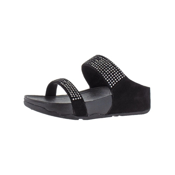 84f53b82af6 Shop Fitflop Womens Flare Slide Slide Sandals Suede Jeweled - On ...