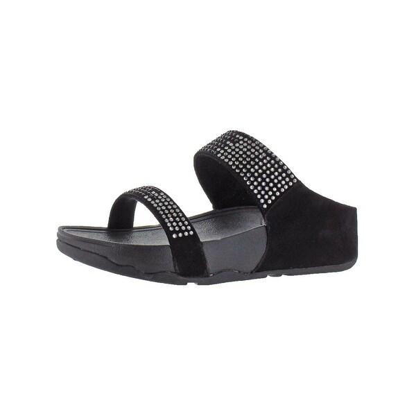 78f2bfcfddf9 Shop Fitflop Womens Flare Slide Slide Sandals Suede Jeweled - Free ...