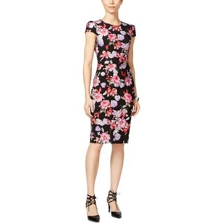 Betsey Johnson Womens Wear to Work Dress Knit Floral Print - 8