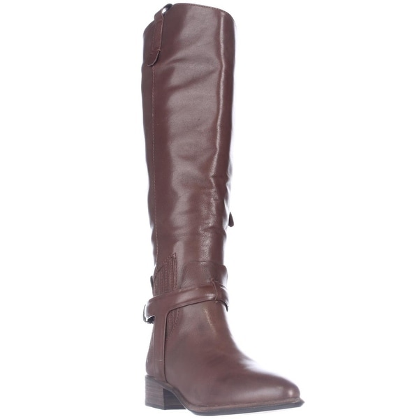 Dolce Vita Mayden Western Pointed-Toe Riding Boots, Chocolate Leather - 6 us