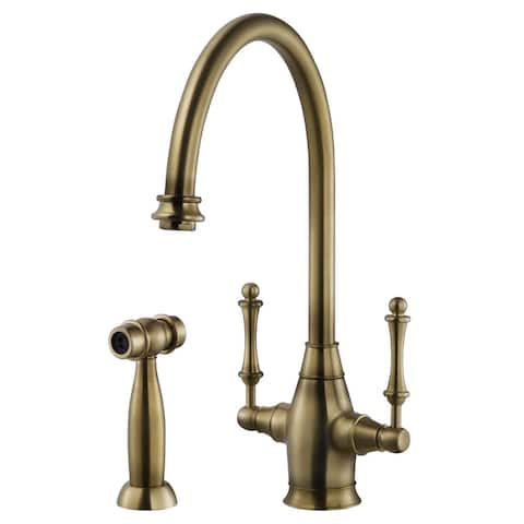 Houzer CRLSS-650 Charleston Kitchen Faucet with Sidespray and CeraDox Lifetime Technology