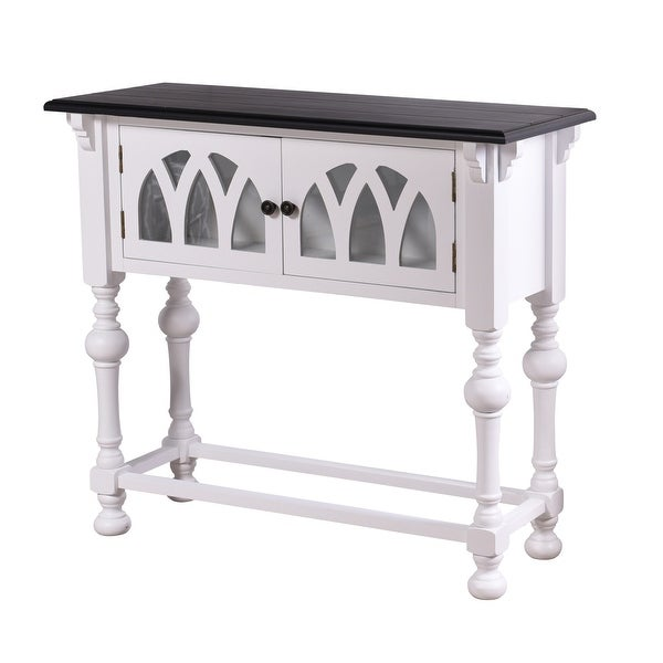 "StyleCraft SC-AF17930 Church St. 36"" Long Wood Console Table - White and Black"