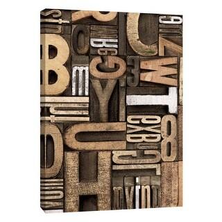 "PTM Images 9-109140  PTM Canvas Collection 10"" x 8"" - ""Silver Letterpress B"" Giclee Alphabet Art Print on Canvas"