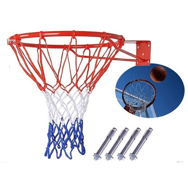 Shop Basketball Hoop Net Ring Wall Mounted Outdoor Hanging