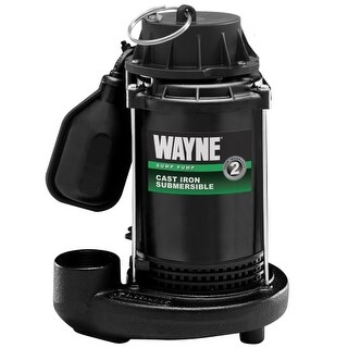 Wayne CDT50 1/2 HP Cast Iron Submersible Sump Pump with Automatic Switch