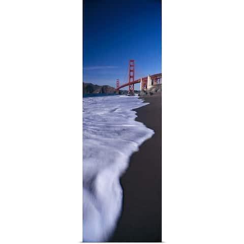 """""""Suspension bridge across a bay, Golden Gate Bridge, San Francisco Bay, San Fr"""" Poster Print"""