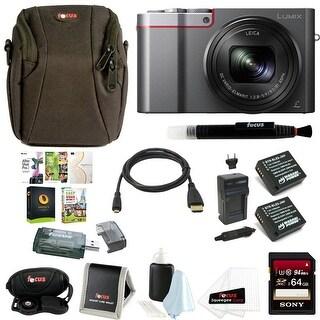 Panasonic Lumix DMC-ZS100 Digital Camera & 64GB SD Card Bundle(Silver)