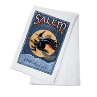 Salem, Massachusetts Witch Vintage Sign LP Artwork (100% Cotton Towel Absorbent)