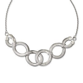 Chisel Stainless Steel Interlinked Oval 16.5in with ext Necklace - 16.5 in