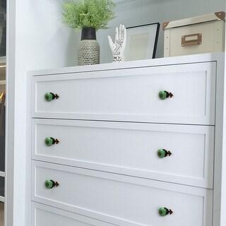 Ceramic Vintage Knobs Drawer Pull Handle Cupboard Wardrobe Dresser 10pcs Green