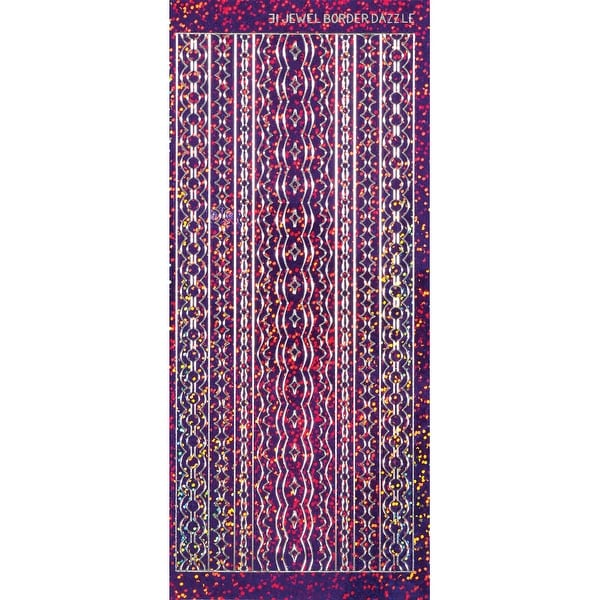 Dazzles Stickers-Jewel Borders-Purple - Purple