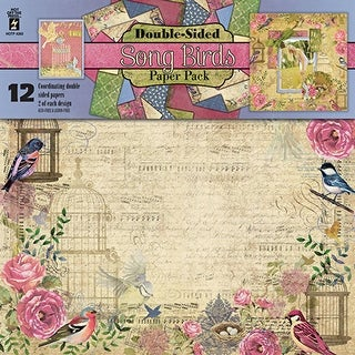 """Hot Off The Press Double-Sided Paper Pack 12""""X12"""" 12/Pkg-Song Birds"""