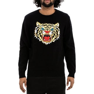 Hudson Mens Tiger Crewneck Sweater Embroidered Graphic - M