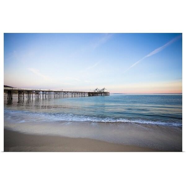 """""""Malibu Pier sunset"""" Poster Print"""