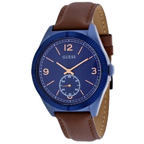 Guess Men's Dress Blue Dial Watch - W0873G2 - One Size