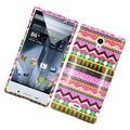Insten Colorful Elegant Tribal Hard Snap-on Rubberized Matte Case Cover For Sharp Aquos Crystal - Thumbnail 0