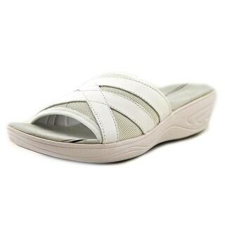 Easy Spirit Mariner Open Toe Leather Slides Sandal