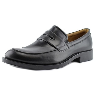 Ecco Canberra Men Round Toe Leather Black Loafer