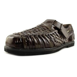Deer Stags Bamboo2 Men W Round Toe Leather Brown Fisherman Sandal