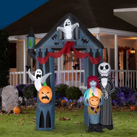 Gemmy Airblown Archway Nightmare Before Christmas Disney, 9 ft Tall, black
