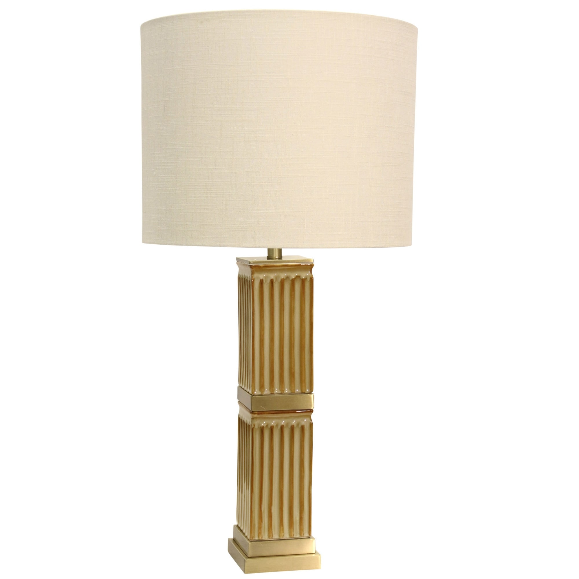 Delacora Sc L313345 Tifton 36 Tall Buffet Table Lamp With Hardback Fabric Shade Beige Overstock 25653937