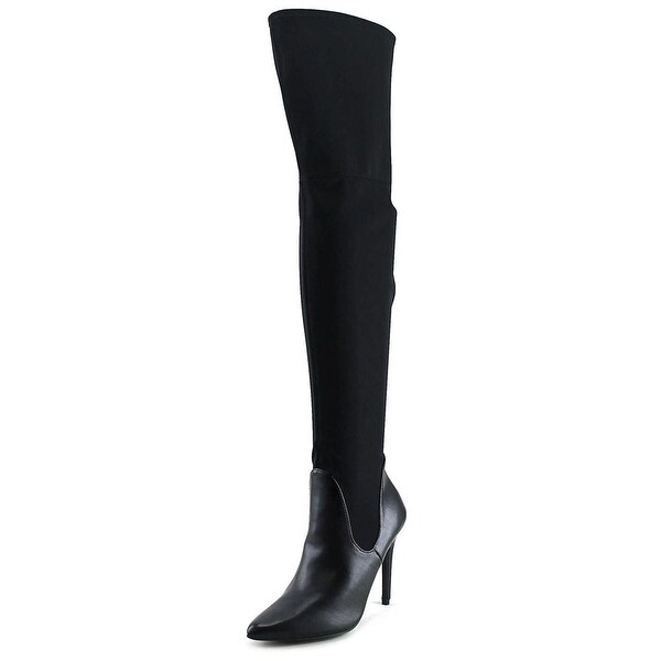 Charles By Charles David Premium Women Canvas Black Over the Knee Boot