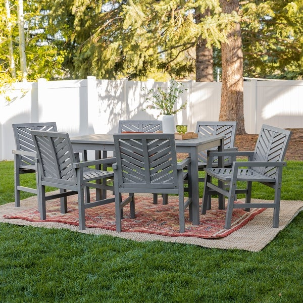Elephant Point 7-Piece Patio Chevron Dining by Havenside Home. Opens flyout.