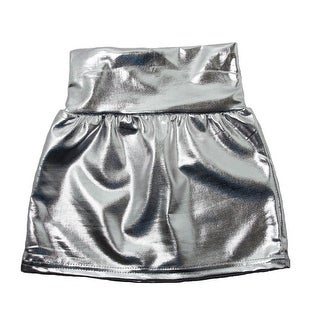 Baby Girls Silver Metallic Shine Stretchy Lightweight Soft Skirt 24M