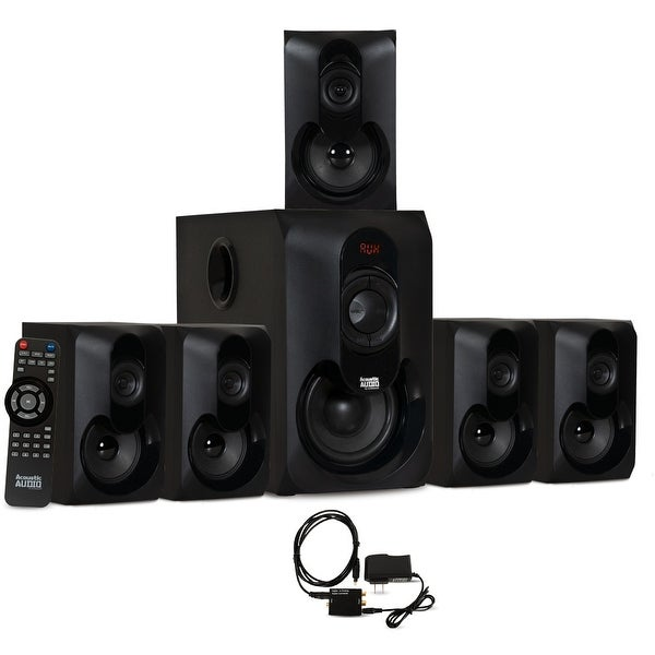 Acoustic Audio AA5301 Bluetooth Powered 5.1 Speaker System with Optical Input