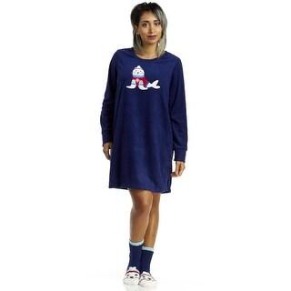 Rene Rofe Pillow Talk Oh What Fun Sleep Shirt With Socks - Blue