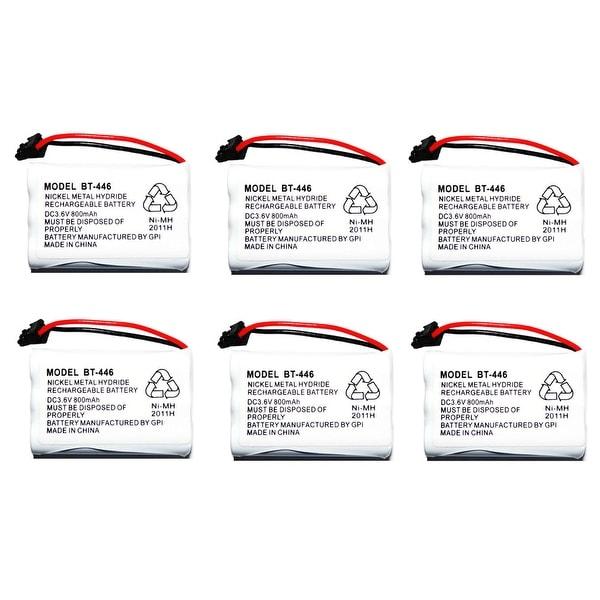 Replacement BT446 Battery for Uniden 5.8GHz TRU5865-2 / TRU9465-2 / TRU9585-4 Phone Models (6 Pack)