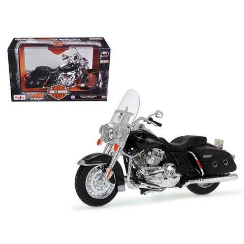 2013 Harley Davidson FLHRC Road King Classic Black Bike Motorcycle Model 1/12 by Maisto