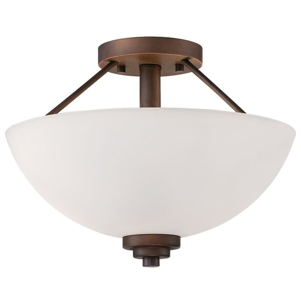 Millennium Lighting 3152 Durham 2-Light Semi-Flush Ceiling Fixture