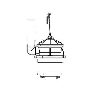 American Standard 3280.040-0070A  Flusher Tower Part
