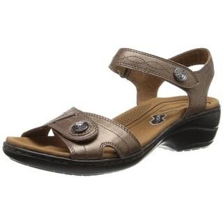 Cobb Hill Womens Revminx Leather Metallic Dress Sandals