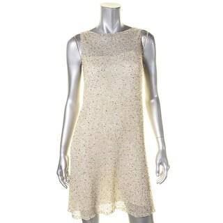 Ralph Lauren Womens Cocktail Dress Mesh Embellished - 8