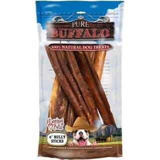 "- Pure Buffalo 6"" Bully Stick Dog Treat 6/Pkg"
