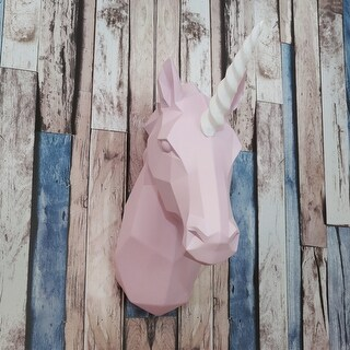 Walplus Contemporary Taxidermy Pink Unicorn Head Home Decor Wall Art