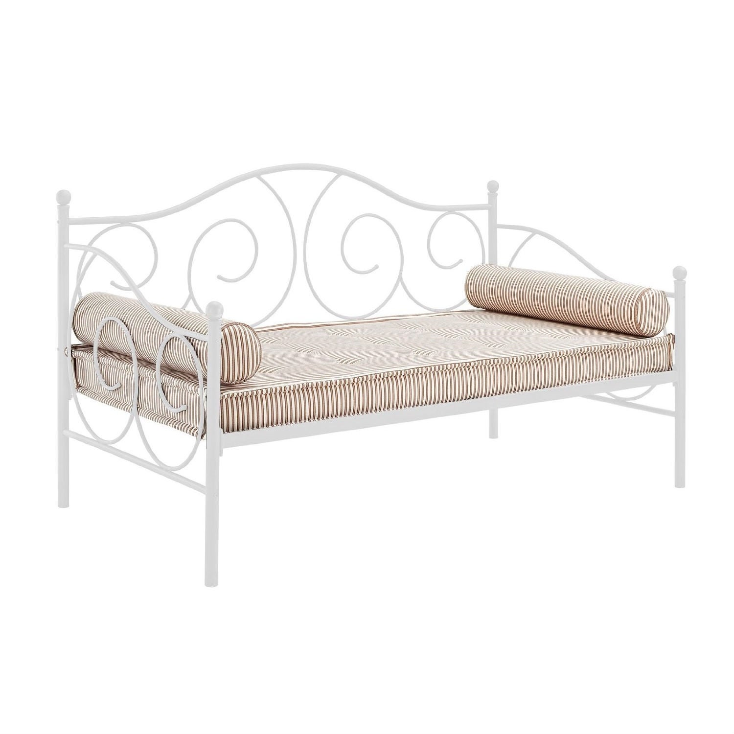 - Shop Twin Size White Metal Day Bed Frame - 600 Lb Weight Limit