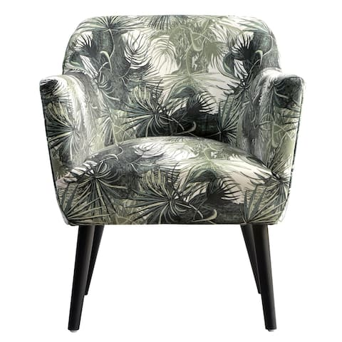 Modern Contemporary Upholstered Arm Accent Floral Chair