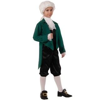 Forum Novelties Thomas Jefferson Child Costume (S) - Green - Small