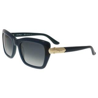 Salvatore Ferragamo SF763/S 416 Petrol Rectangle Sunglasses