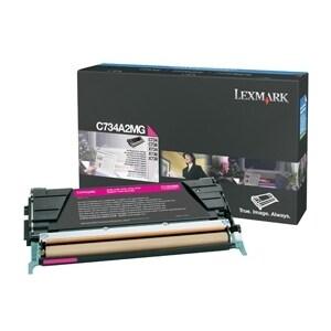 Lexmark C734A2MG Lexmark Magenta Toner Cartridge - Laser - 6000 Page - Magenta