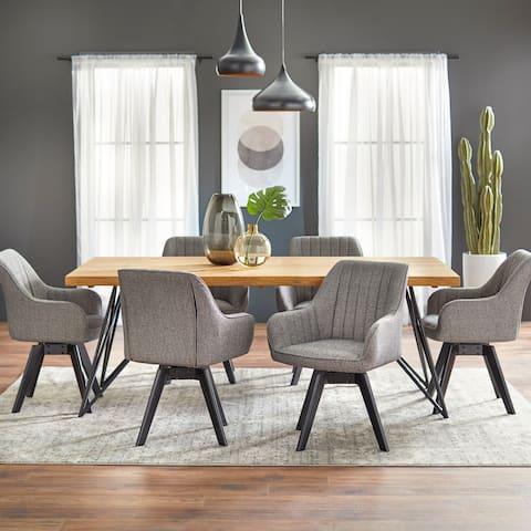 Lifestorey Phyllis 7-piece Solid Wood Dining Set
