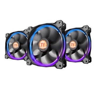 Thermaltake Riing 12 Rgb Led 120Mm Adjustable Color Case Radiator Fan - Triple Pack Cl-F042-Pl12sw-B