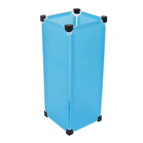Office Removable Rectangular DIY Umbrella Stand Holder Container Sky Blue