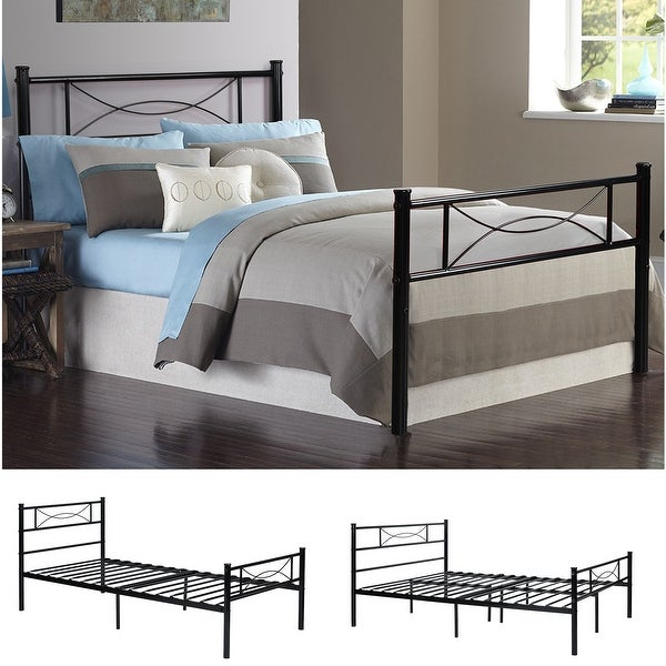 Shop Easy-to-assemble Bed Frame Platform with Under-bed Storage Twin ...