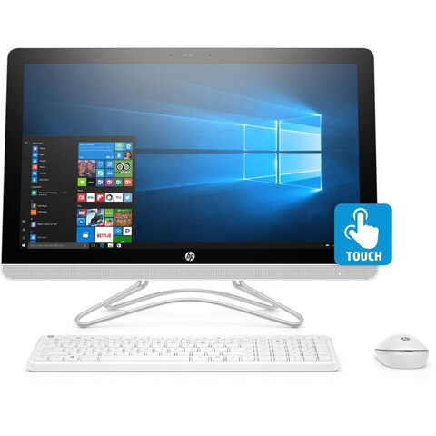 "HP 24-E042 AMD A9 1TB HDD, 23.8"" Full HD Touch-Screen, All-in-One PC - Green"
