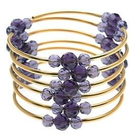Memory Wire Noodle Bead Bracelet -Purple/GP - Exclusive Beadaholique Jewelry Kit
