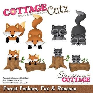 "Cottagecutz Forest Peekers Die-Fox & Raccoon, 1.3"" To 2.9"""
